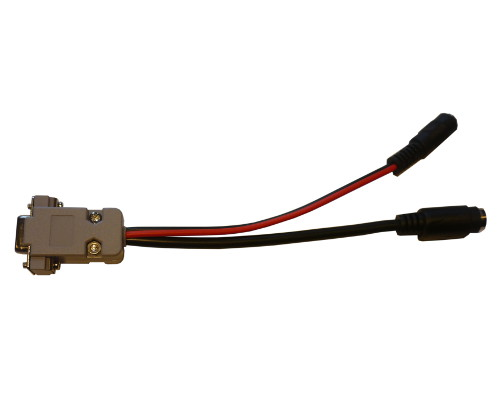CAB45 - Adapter for BT/Microsat (minidin 6-pin) to DB9 + 5.5/2.1 power